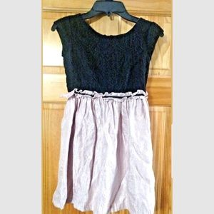 Girls Pippa and Julie Dress Pink and Black Size 7